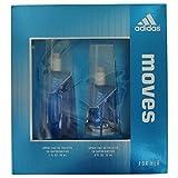 Adidas Fragrance Moves for Her 2 Piece Gift Set (0.5 Ounce Plus 1 Ounce Eau De Toilette) (Tamaño: 1.0 OZ)