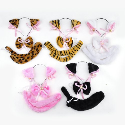 (Price/10 Sets)TopTie Animal Ear Headband/ Bow Tie/ Tail, Costume Accessory Set