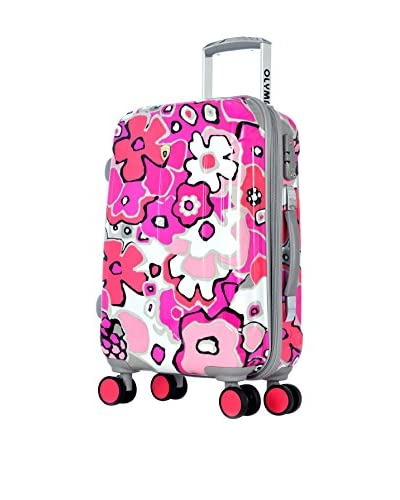 Olympia Blossom II 21″ Carry-On Hardcase Spinner, Fuchsia