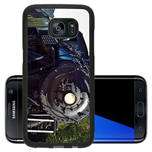 Luxlady Premium Samsung Galaxy S7 Edge Aluminum Backplate Bumper Snap Case IMAGE 28698239 o Close up of vintage black steam engine locomotive pulling into the station (Steam O Belt compare prices)