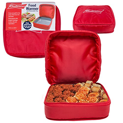 Budweiser Insulated Food Warmer -Carrier Keeps Food Warm For Up To 1hr -BPA Free (Commercial Thermal Bags compare prices)