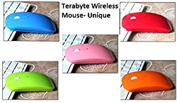 Terabyte Ultra Slim 2.4 G Hz Colored Wireless Optical Mouse for Mac, Windows, laptops