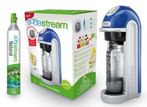 Sodastream Fizz Home Drinks Maker Plastic Blue Silver Black 45.5 cm x 14 cm x 23 cm