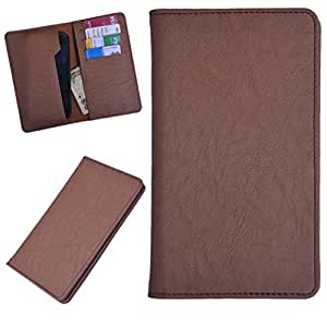 DCR Pu Leather case cover for Celkon Q455l (brown)