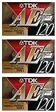 TDK 音楽用 カセットテープ 3本セット 120分 いい音 長時間 AE-120X3A