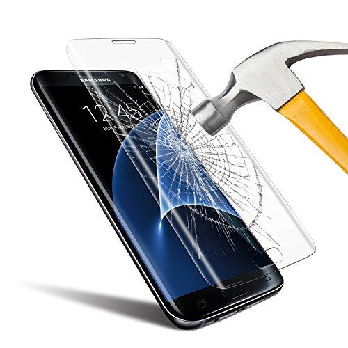 Protection écran SamSung Galaxy S7 Edge , Ubegood Galaxy S7 Edge Film Protection en Verre Trempé [Couverture complète] Ultra Clair Dureté 9H Anti-traces Écran de Screen Protection pour Samsung Galaxy S7 Edge - 1 pack
