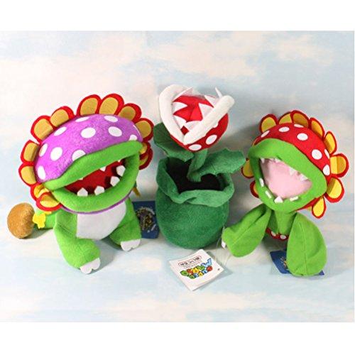 Super Mario Bros Plush Piranha Plant Doll 3pcs Soft Stuffed Plush Toy Anime Collection Birthday Gifts