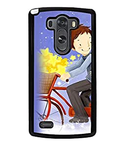 Printvisa Father Daughter On A Bicycle Back Case Cover for LG G3::LG G3 D855