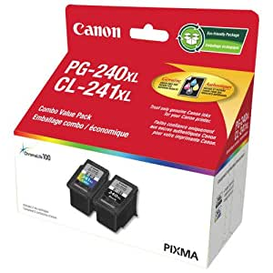 Canon Genuine PG-240XL/CL-241XL Ink Value Pack
