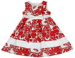 Party Princess Girls' Party Dress (E12831R-5/6, Red, 5-6 Years)