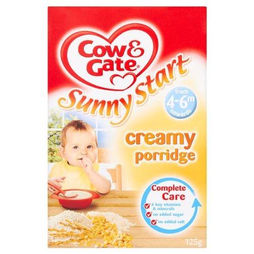 Cow & Gate Sunny Start Creamy Porridge from 4-6m Onwards 6 x 125g