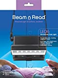 Beam n Read LED 6 Hands-Free Task Light; Extra Wide & Extra Bright Light from 6 LEDs Plus Clip-on Orange and Red Relaxation Filters [2015]
