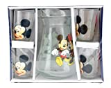 Disney's Mickey Mouse 5pc Glass Pitcher Set