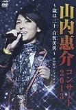 山内惠介コンサート2013~歳は三十白皙美男~ [DVD]