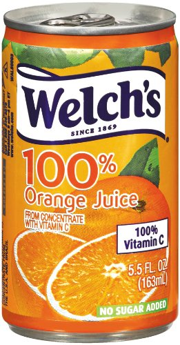 Welch's 100% Orange Juice, 5.5-Ounce Cans (Pack of 48)