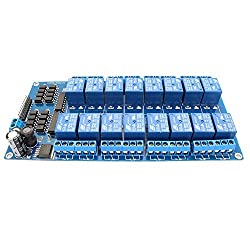 Anycubic 12V 16 Channel Relay Module Board with Optocoupler Protection LM2576 Power for Arduino PIC AVR MCU DSP ARM
