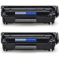 two Jarbo Replacement Black Toner Cartridges for HP LaserJet Printers