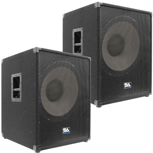 "Seismic Audio - Enforcer Ii Pw - Pair Of Powered Pa 18"" Subwoofer Speaker Cabinets"