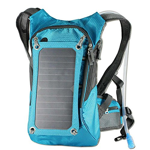 Superbag 611 Hydration Backpack Sport Backpack Cycling Bicycle Bike/Hiking Climbing Pouch With 1.8L Bladder Bag + 7 Watts Solar Powered Panel Charging For iPhone, iPad, SAMSUNG, Mobile Phones, Tablets