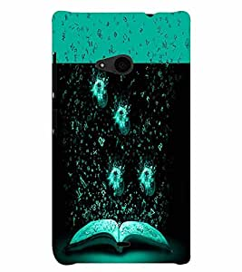 PrintVisa Modern Art Book Knowledge Gyaan 3D Hard Polycarbonate Designer Back Case Cover for Nokia Lumia 535