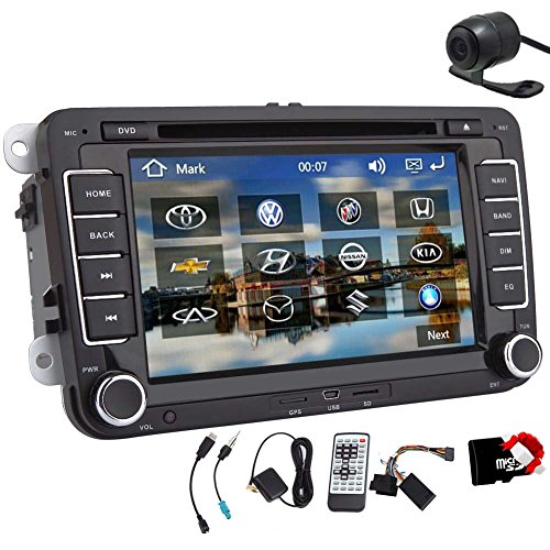 Christmas Sale!!7 Inch 2 din Car DVD Player For VW/Volkswagen/Passat/POLO/GOLF/Skoda/Seat Canbus USB GPS BT IPOD AM/FM RDS Free Maps+ Rear Camera (2013 Jetta Bluetooth Module compare prices)