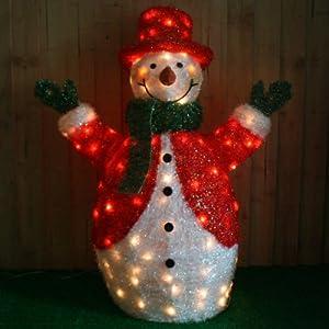 Large pre lit christmas snowman christmas decoration for Amazon christmas decorations indoor