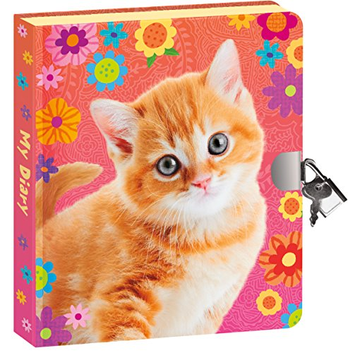 Peaceable Kingdom Pretty Kitty Lock and Key Diary