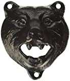 "3"" Brown-Black Cast Iron Bear Wall Mount Beer Bottle Opener Lodge/Cottage Decor"