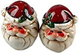 SANTA CLAUS / FATHER CHRISTMAS Christmas Tableware - Ceramic Salt & Pepper Shakers / Cruet Set