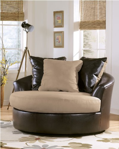 Living Room Furniture Chairs on Living Room Furniture  Logan   Stone Oversized Swivel Accent Chair By