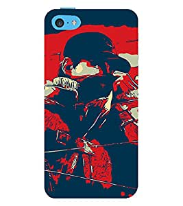 Man Abstract 3D Hard Polycarbonate Designer Back Case Cover for Apple iPhone 5C