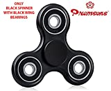 #6: Premsons Fidget Spinner 608 Four Bearing - Black + Black