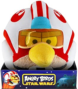 "Angry Birds Star Wars Bird Luke 5"" Plush with Sound and Helmet by Angry Birds Star Wars"