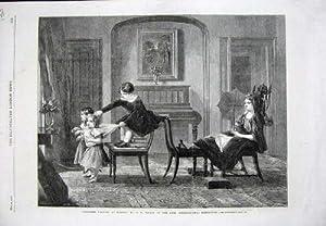 1862 Bambini che Giocano Mostra di Arte della Casa di Famiglia dei Cavalli
