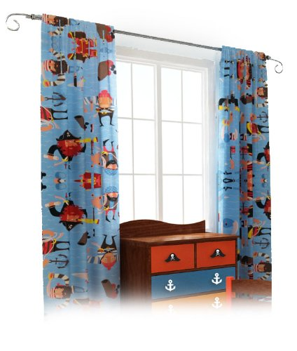 Room Magic Set of 2 Window Panels, Pirate Pals