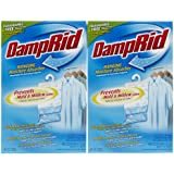 Damp Rid Hanging Moisture Absorber, Fragrance Free, 14 oz-2 pk
