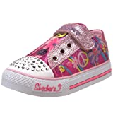 Skechers Twinkle Toes S Lights Funkadelic Lighted Sneaker (Toddler),Hot Pink/Light Pink,7 M US Toddler