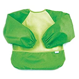 Bumkins Fleece Sleeved Bib, Green, 6-24 Months