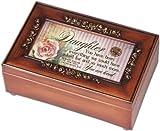 Cottage Garden Daughter Woodgrain Petite Rose Music Box / Jewelry Box Plays Amazing Grace