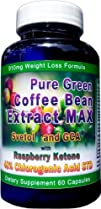 910mg Pure Green Coffee Bean Extract MAX ~ Svetol ~ GCA ~Raspberry Ketones ~ Contains up to 48%…