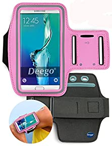 buy Galaxy S5, Galaxy S6,Galaxy S6 Edge Sport Armband , Nancy'S Shop Easy Fitting Sports Universal Running Armband With Build In Screen Protect Case Cover Running Band Stylish Reflective Walking Exercise Mount Sports Universal Armband Case+ Key Holder Slot Fo