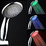 Zeitgenössische galvanisieren Farbwechsel LED Handbrause