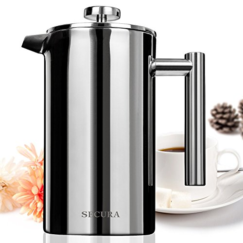 Great Deal! Secura Stainless Steel French Press Coffee Maker 18/10 Bonus Stainless Steel Screen (100...