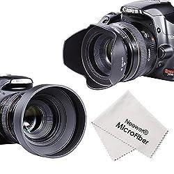 Neewer 52MM Accessory Kit for NIKON D7100 D7000 D5300 D5200 D5100 D5000 D3300 D3200 D3100 D3000 D90 D80 DSLR Cameras - Includes: Tulip Lens Hood + Collapsible Rubber Lens Hood + UV Lens Filter + Lens Cleaning Pen + Microfiber Lens Cleaning Cloth