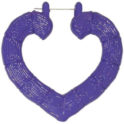 Enameled Heart Hoop Doorknockers In Purple