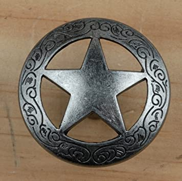 Set Of 24 Fancy Garland Lone Star Drawer Pulls Cabinet Knobs Western  Southwest Decor Texas (