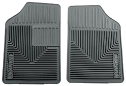 Husky Liners 51052 Semi-Custom Fit Heavy Duty Rubber Front Floor Mat - Pack of 2, Grey