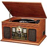 Innovative Technology VTA-200B Nostalgic Classic 6-In-1 Turntable with Bluetooth, Mahogany