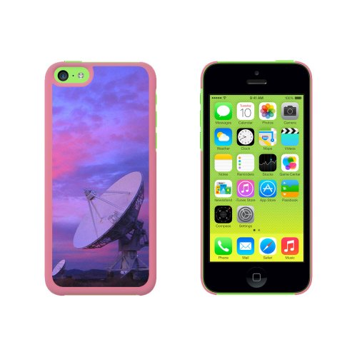 Very Large Array Vla Radar Telescope Dishes New Mexico At Sunset Snap On Hard Protective Case For Apple Iphone 5C - Pink