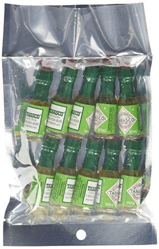 Mini Tabasco Green Jalapeno Pepper Sauce Bottles 1/8 Oz. - Pack of 10 Little Bottles (Tabasco Sauce Mild compare prices)